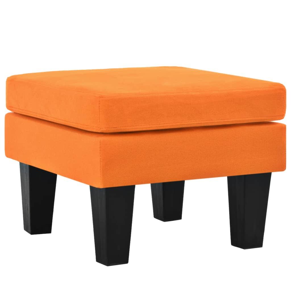 vidaXL Taburetka látková oranžová 53x53x41 cm