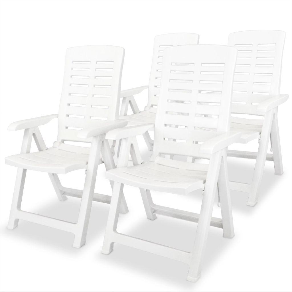 2f27655674145 vidaXL Sklápacie plastové záhradné stoličky, 4 ks, 60x61x108 cm, biele  (43895x2)