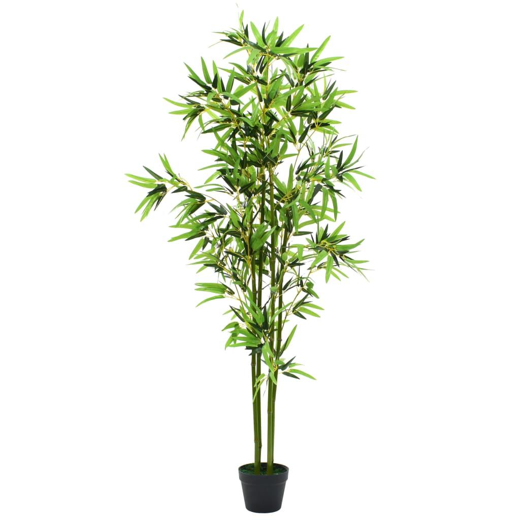 vidaXL Umelá rastlina, bambus s kvetináčom 175 cm, zelený