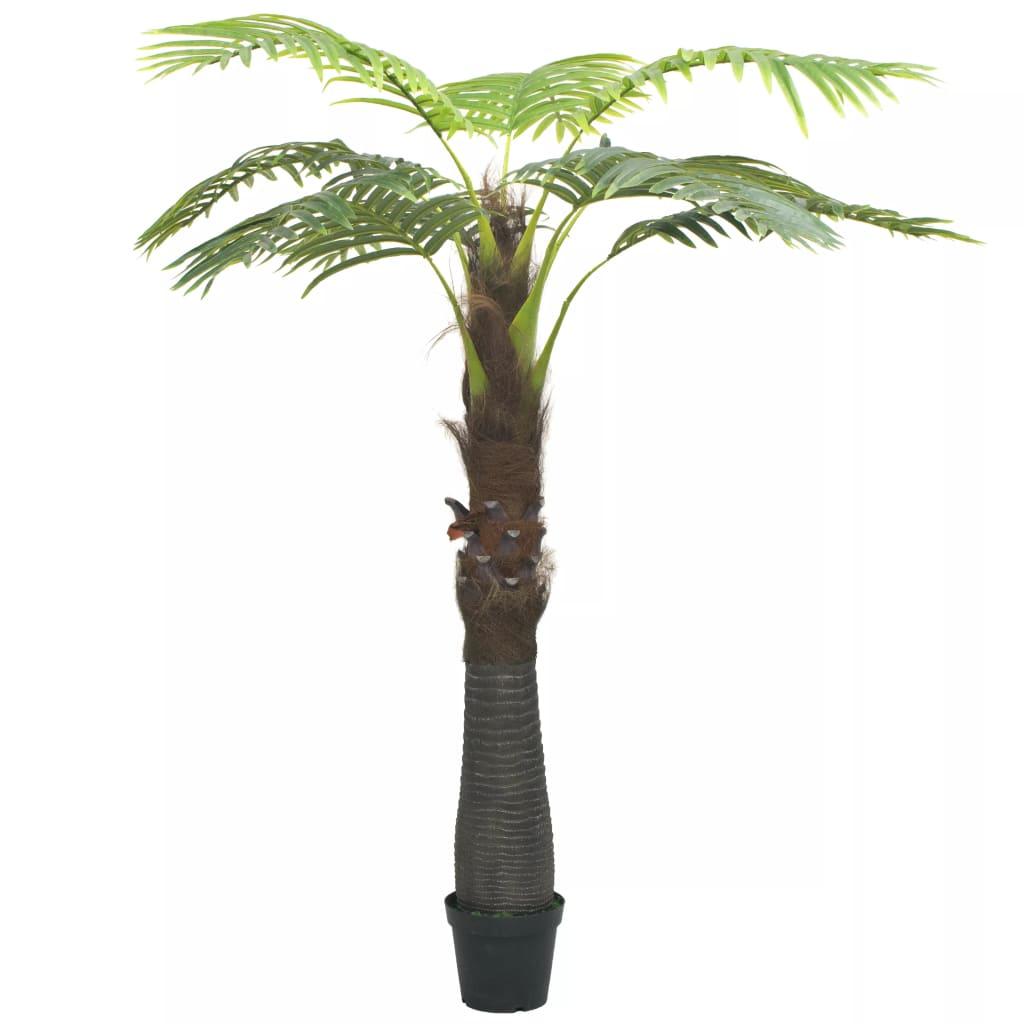 vidaXL Umelá rastlina, palma s kvetináčom 250 cm zelená