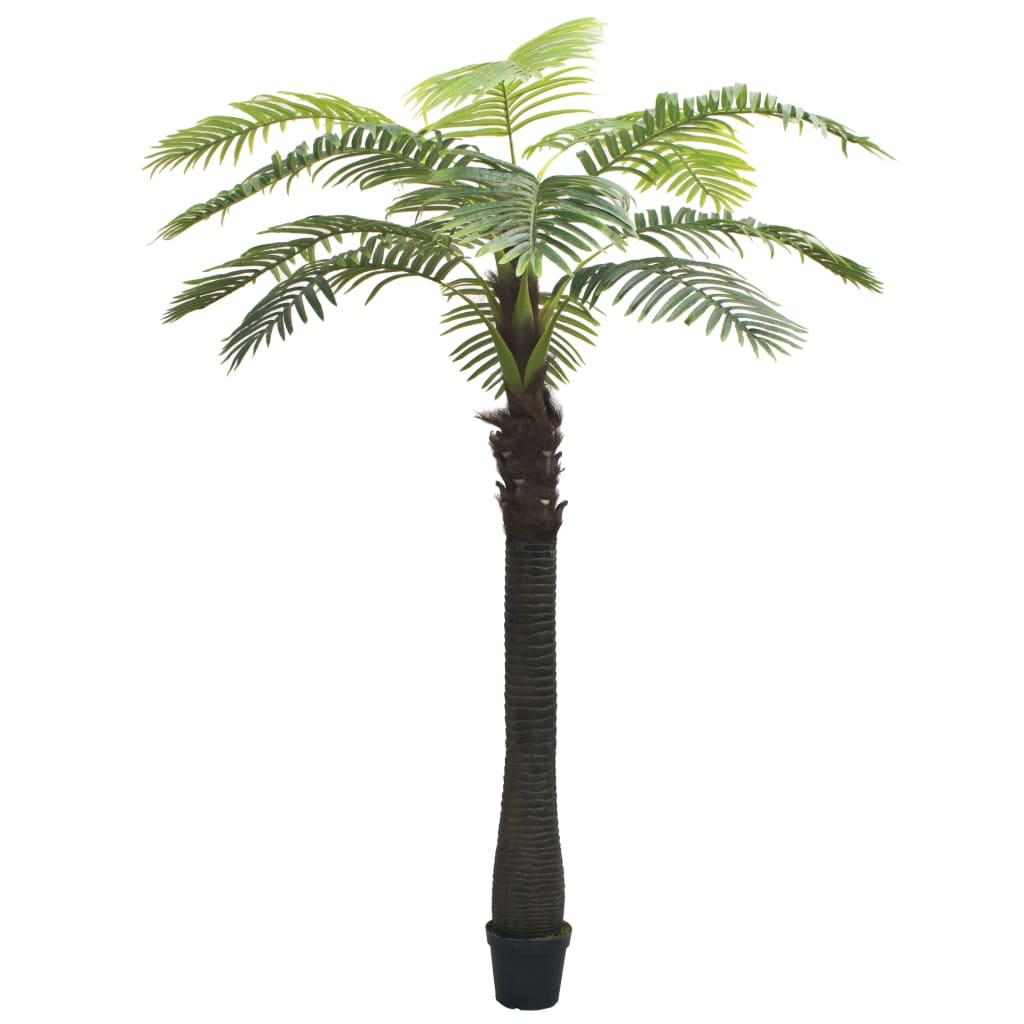 vidaXL Umelá rastlina, palma s kvetináčom 310 cm zelená