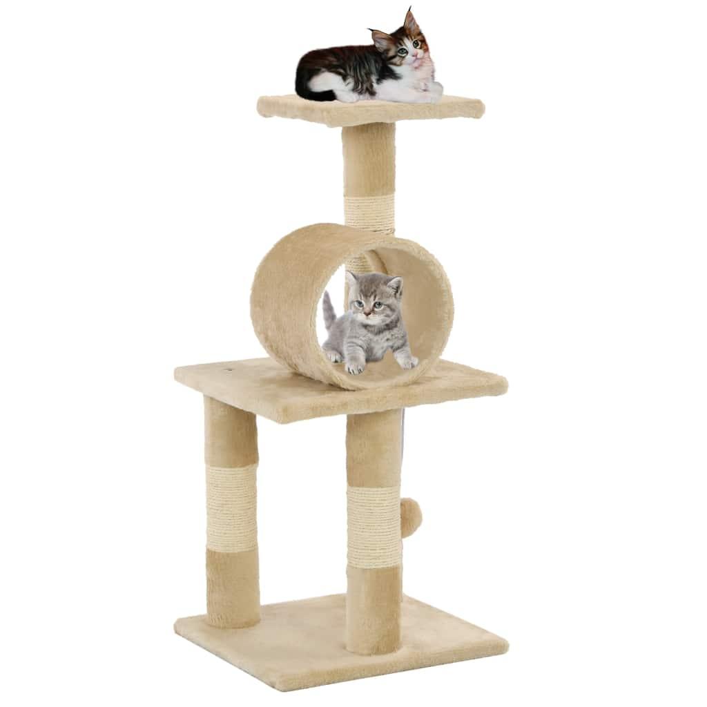 vidaXL Škrabadlo pre mačky so sisalovými stĺpikmi 65 cm béžové f04d37d89df