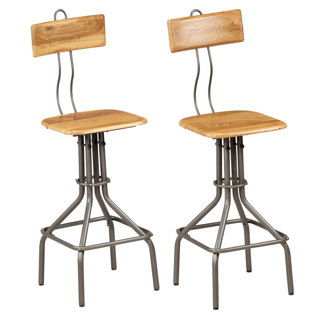 vidaXL Barové stoličky 2 ks 41x51x102 cm masívny recyklovaný teak