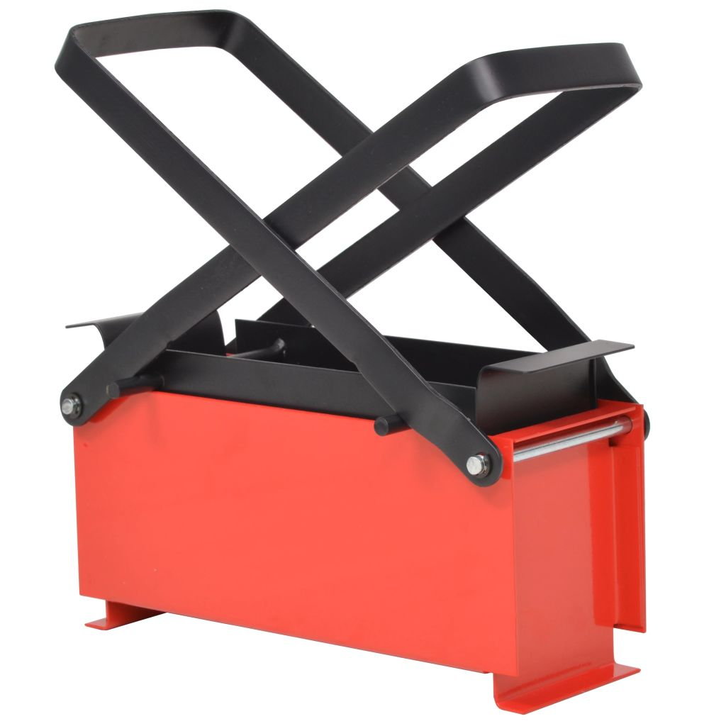 vidaXL Lis na papierové brikety, oceľ, 34x14x14 cm, čierno-červený