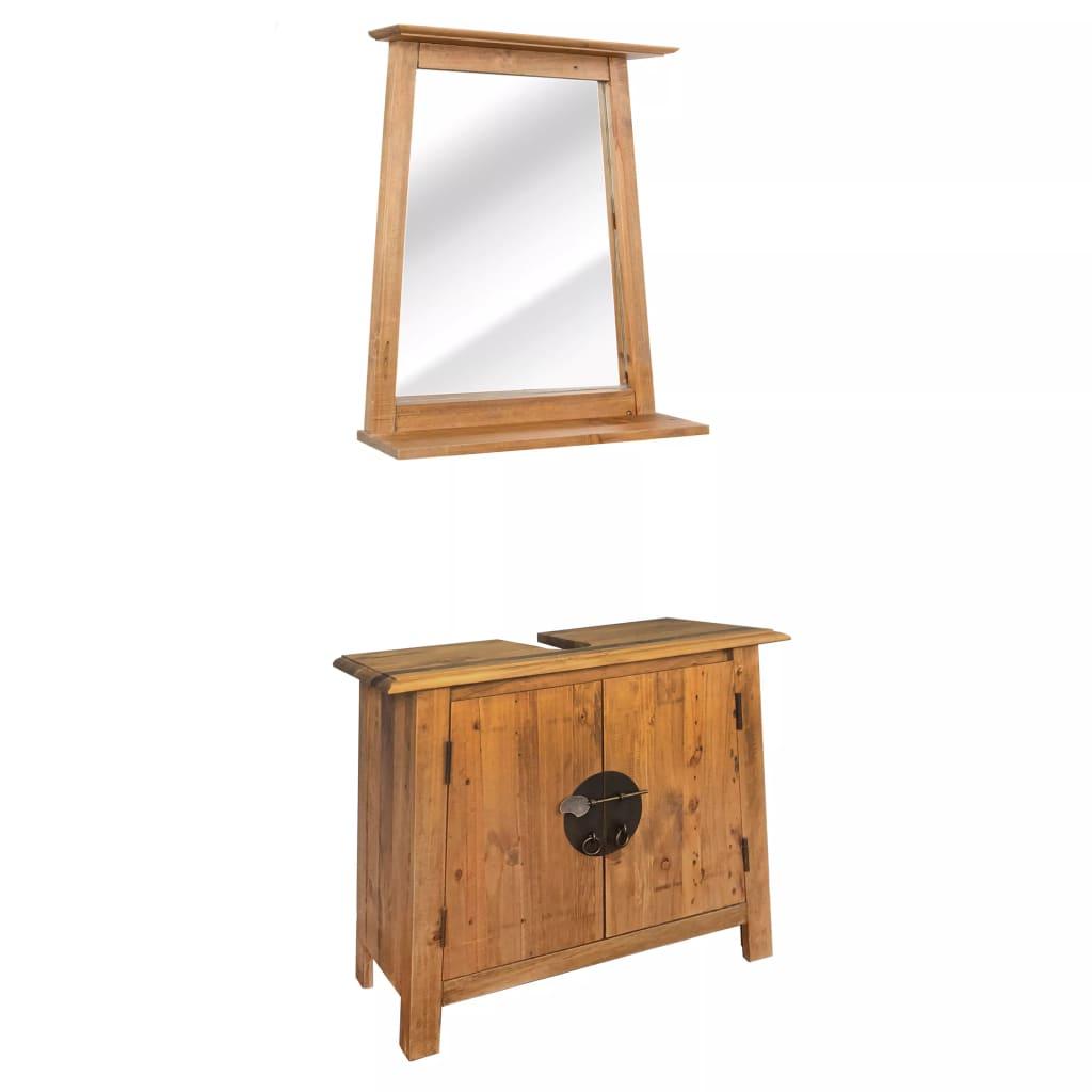 vidaXL Súprava kúpeľňového nábytku z recyklovaného borovicového dreva