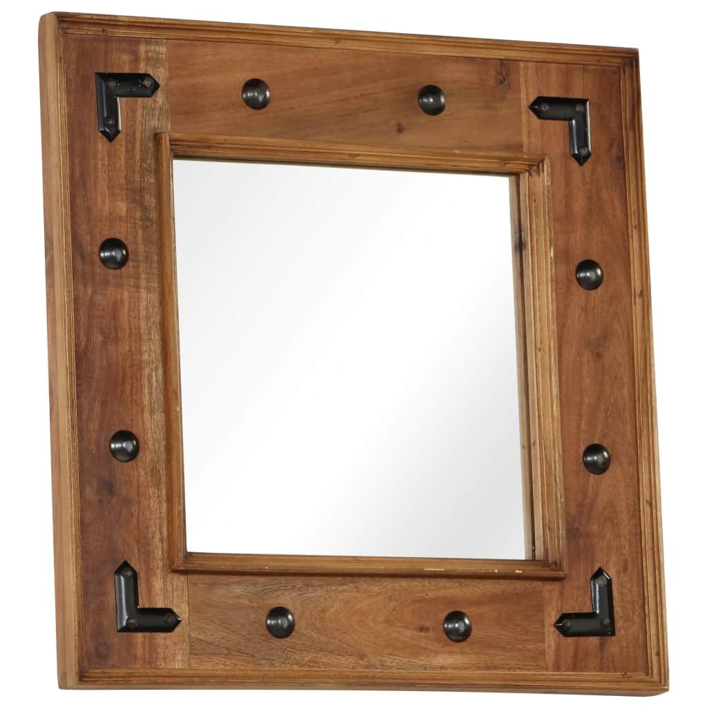 vidaXL Zrkadlo z masívneho akáciového dreva 50x50 cm