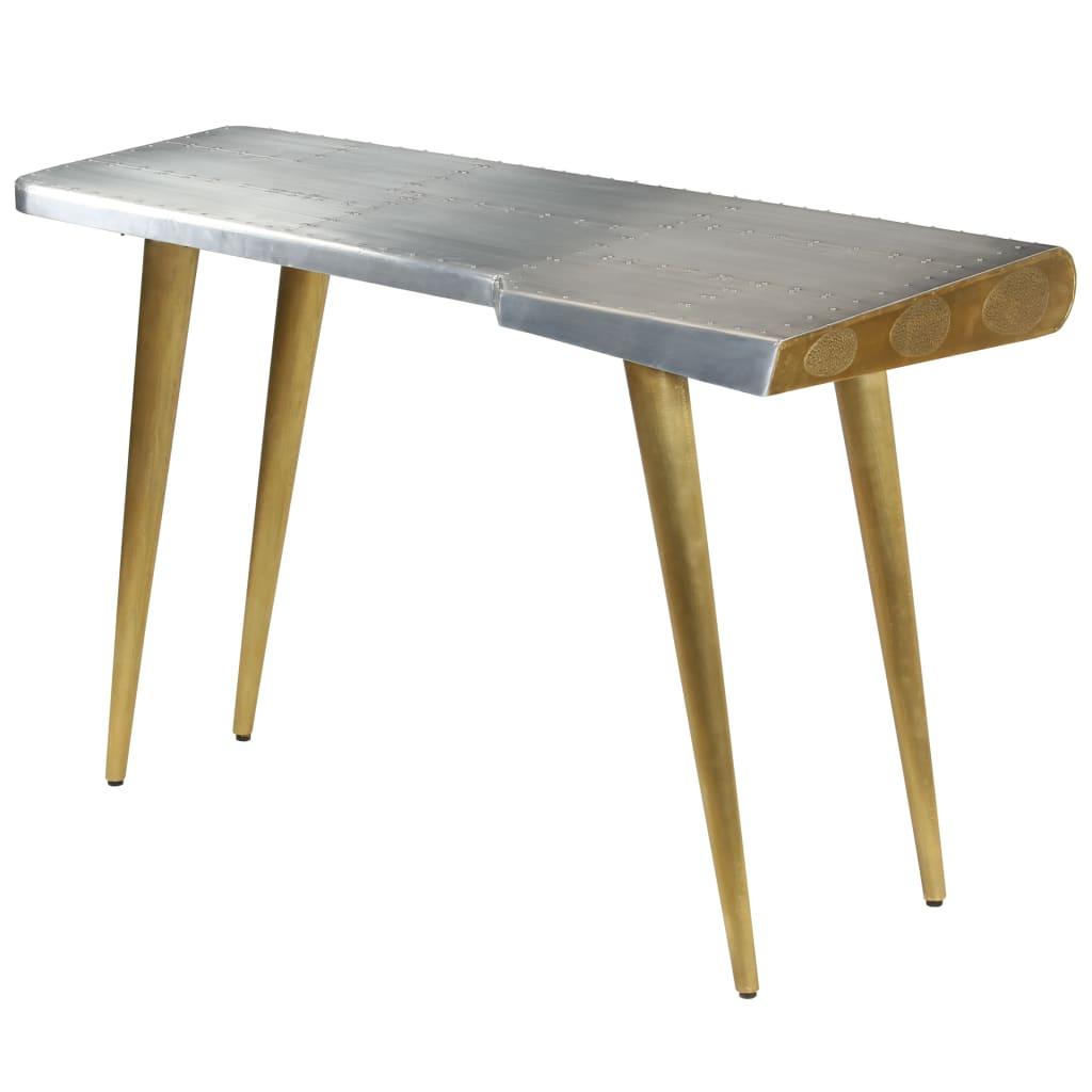 vidaXL Písací stôl Aviator vo vintage leteckom štýle 120x60x76 cm