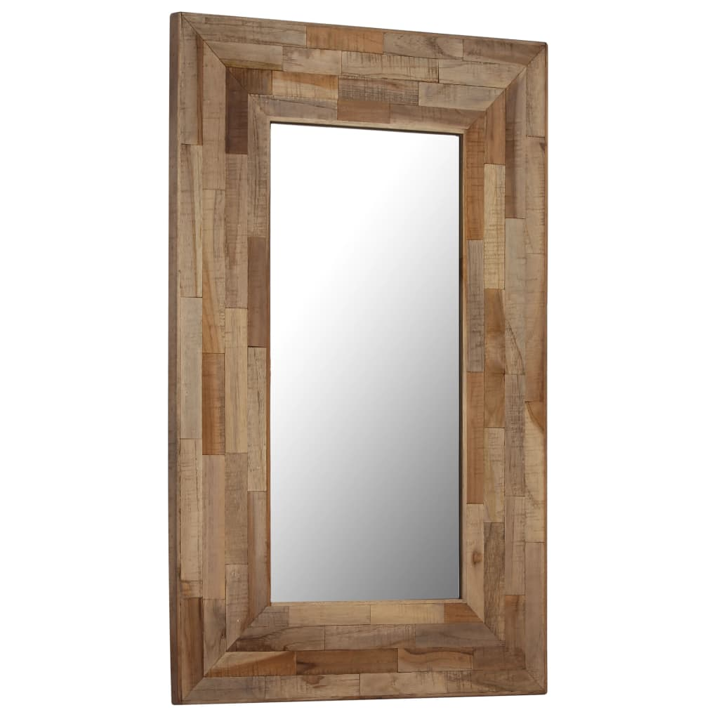 vidaXL Zrkadlo 50x80 cm recyklované teakové drevo