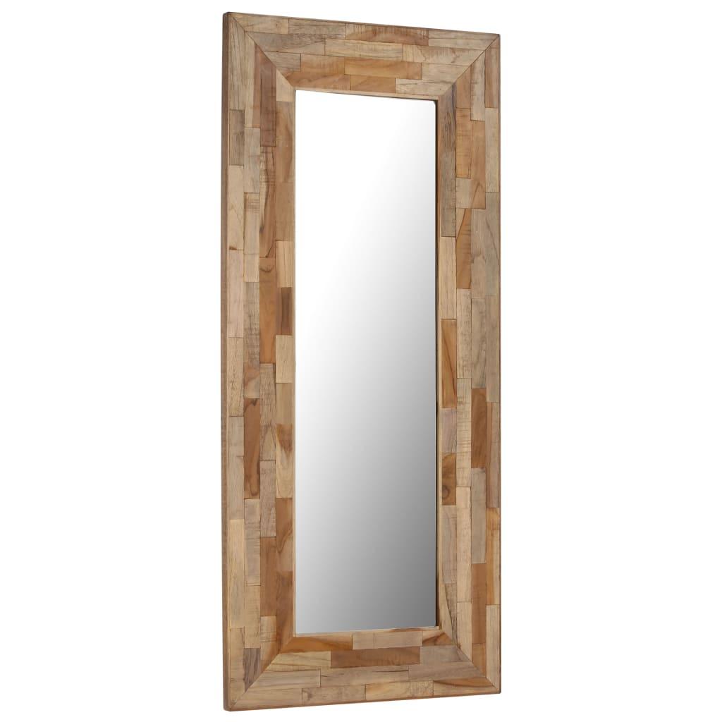 vidaXL Zrkadlo 50x110 cm recyklované teakové drevo