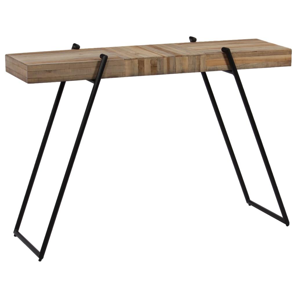 vidaXL Prístavný stolík 120x35x81 cm recyklované teakové drevo