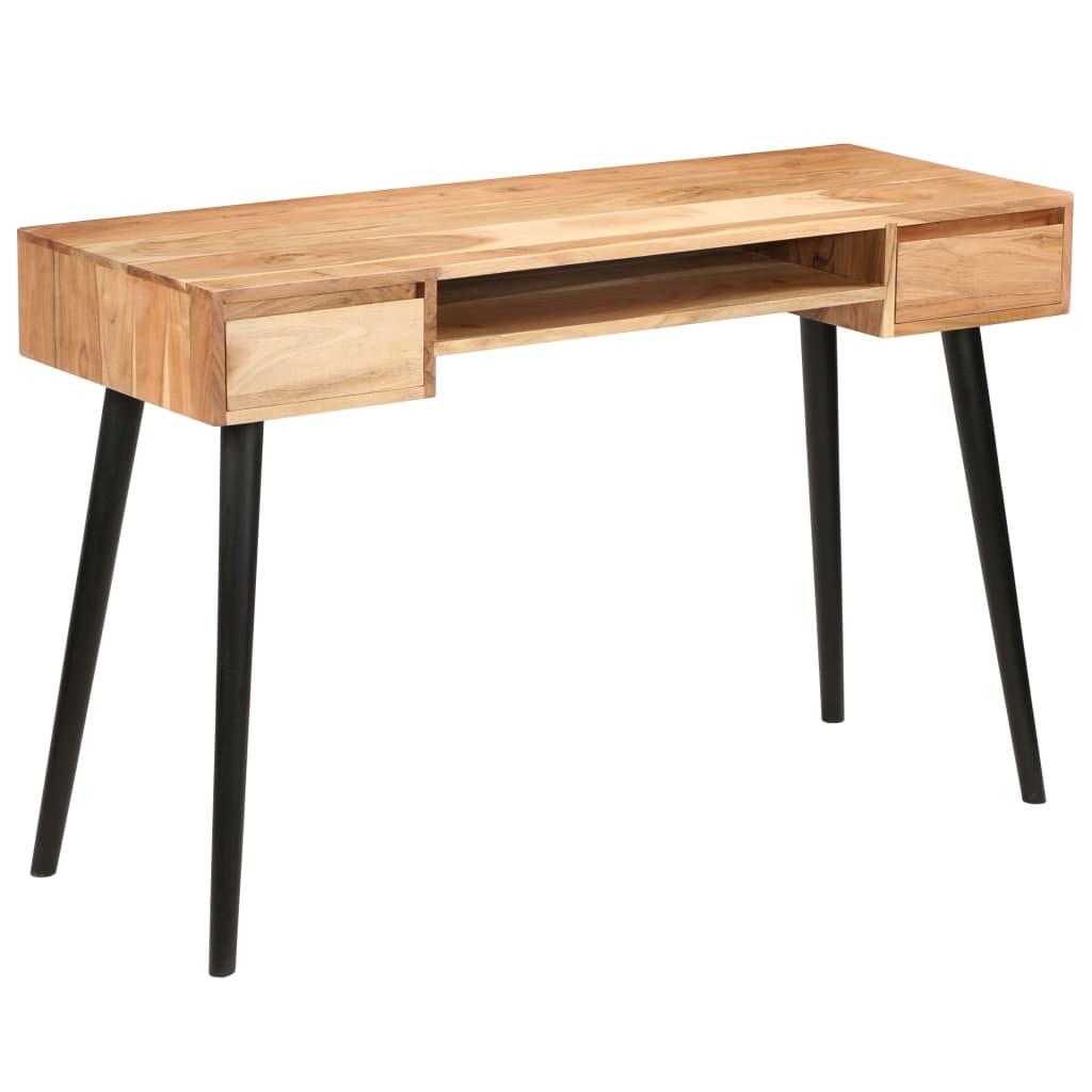 vidaXL Písací stôl, masívne akáciové drevo 118x45x76 cm
