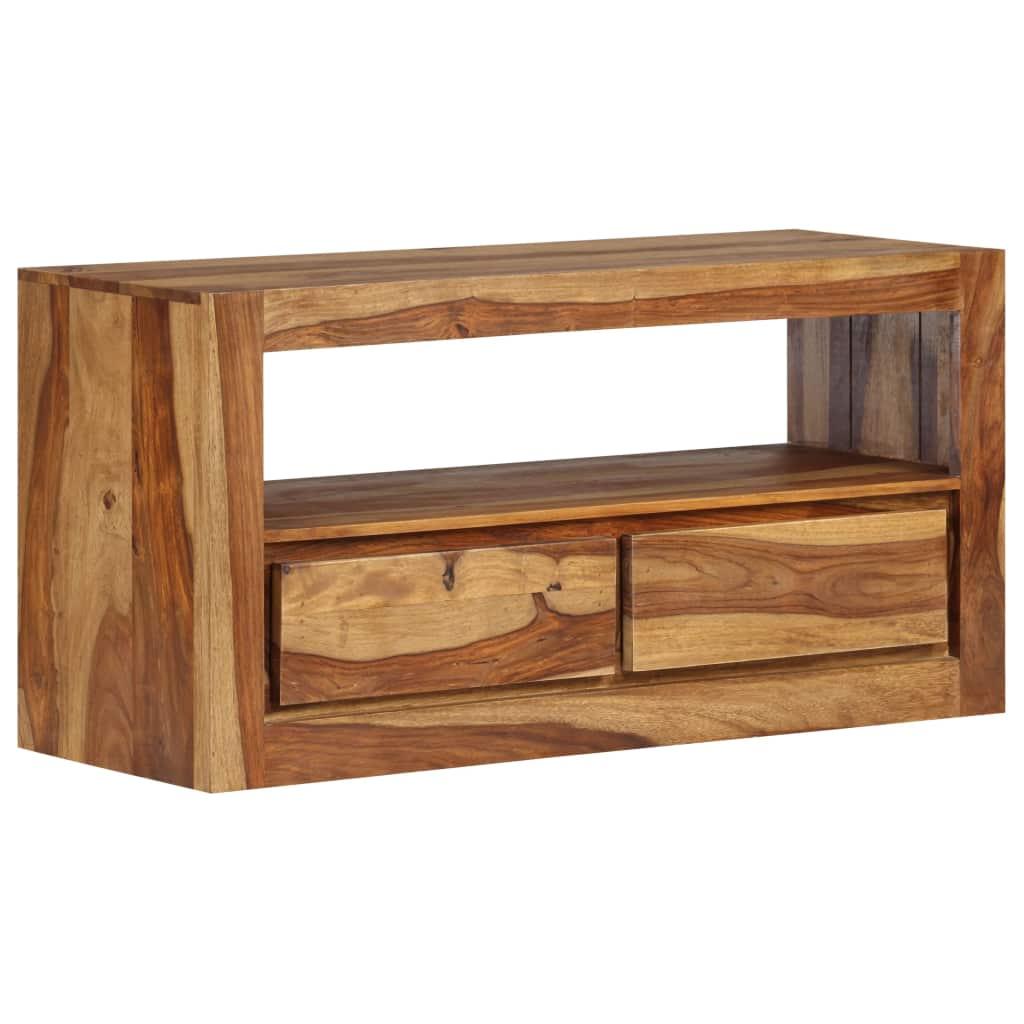 vidaXL Skrinka na TV, masívne sheeshamové drevo 80x30x40 cm