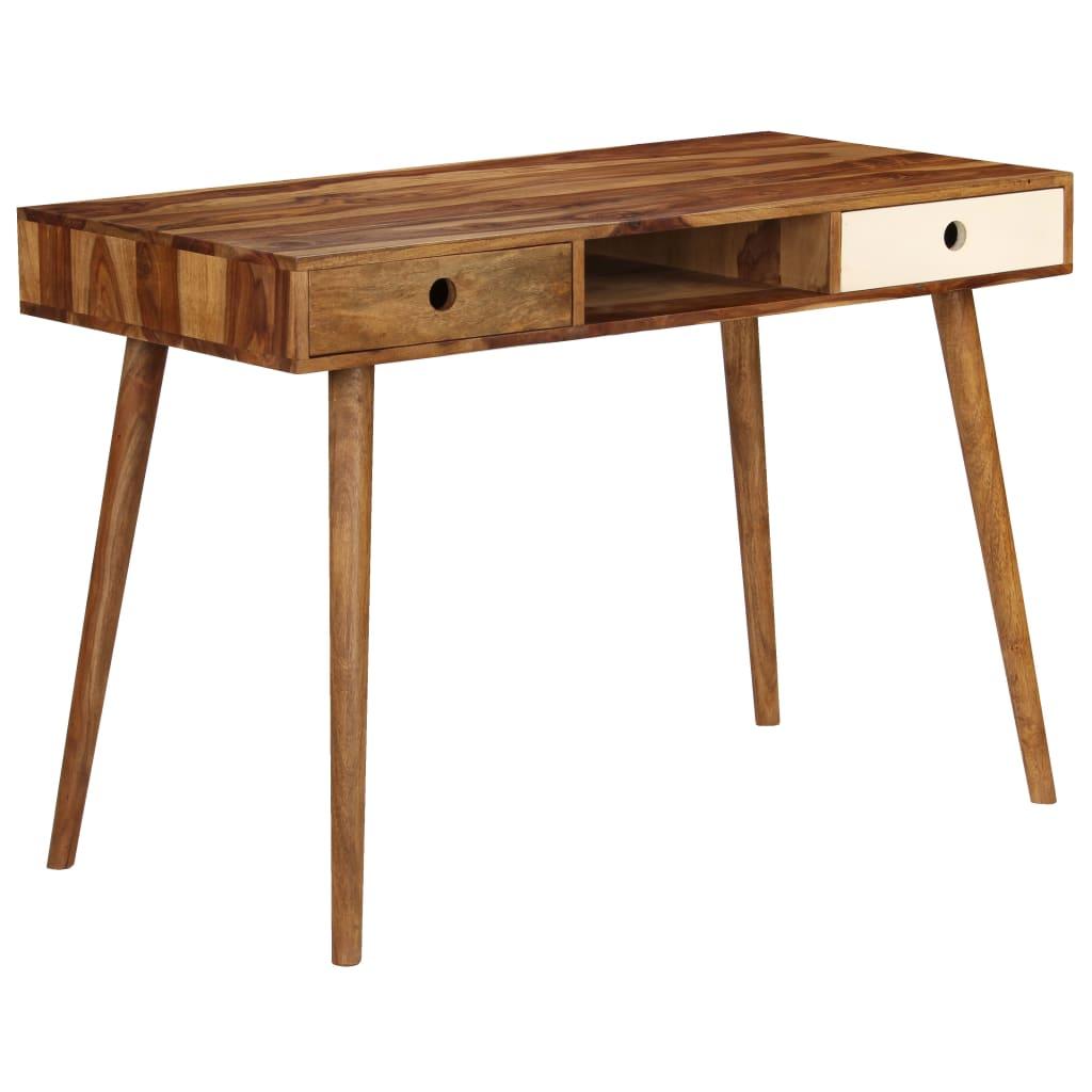 vidaXL Písací stôl 110x55x76 cm masívne sheeshamové drevo