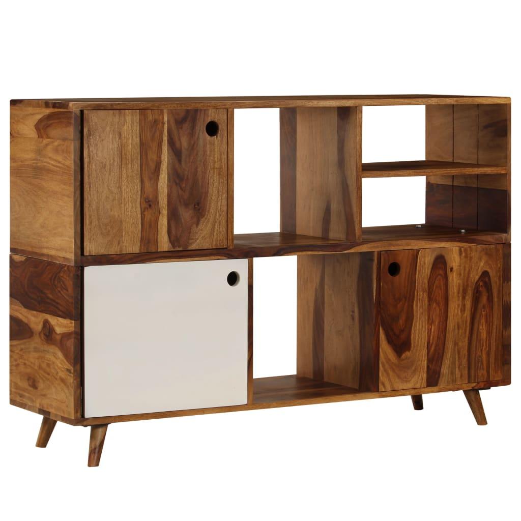 vidaXL Komoda 118x35x70 cm masívne sheesamové drevo