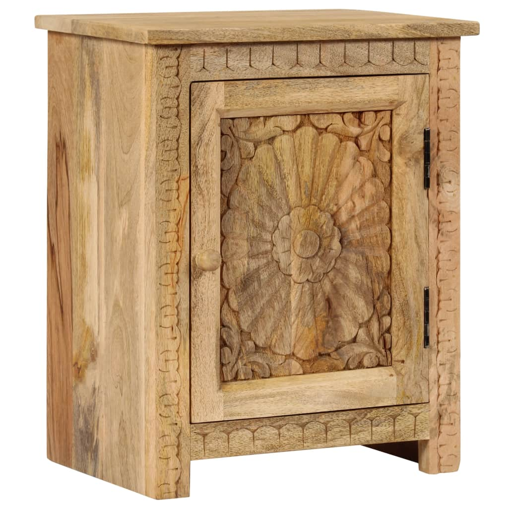 vidaXL Nočný stolík z masívneho mangovníkového dreva 40x30x50 cm