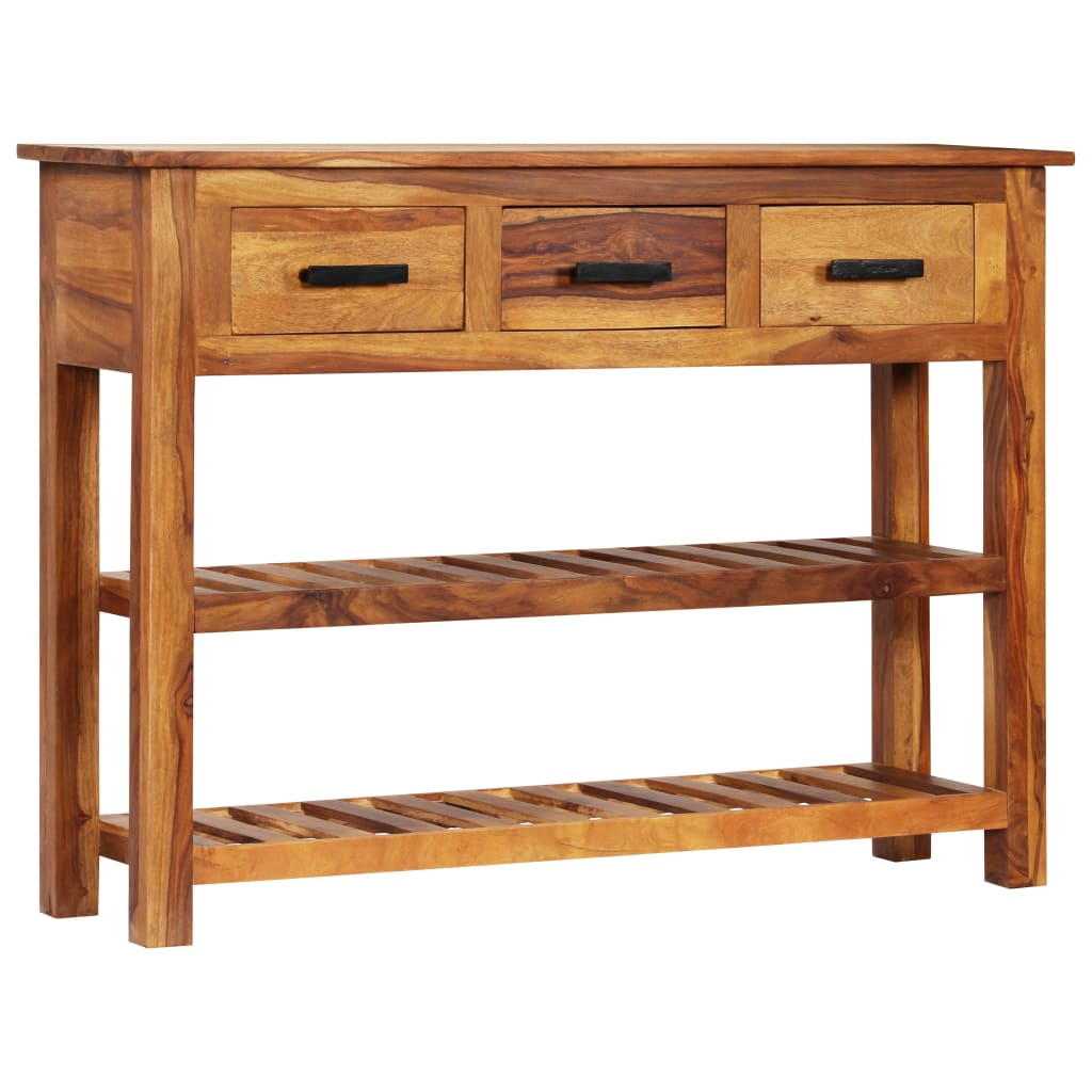 vidaXL Príborník s 3 zásuvkami 110x30x80 cm masívne sheeshamové drevo