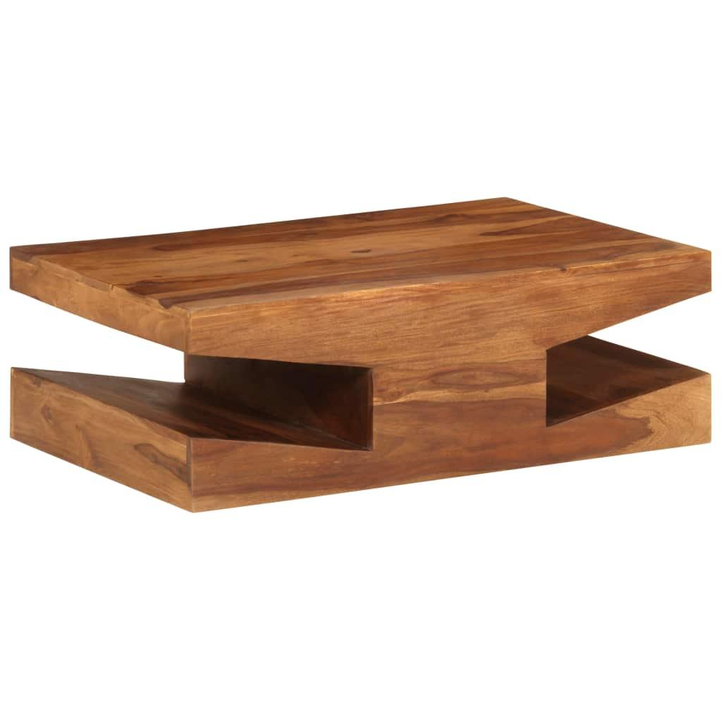 vidaXL Konferenčný stolík 90x60x30  cm masívne sheeshamové drevo