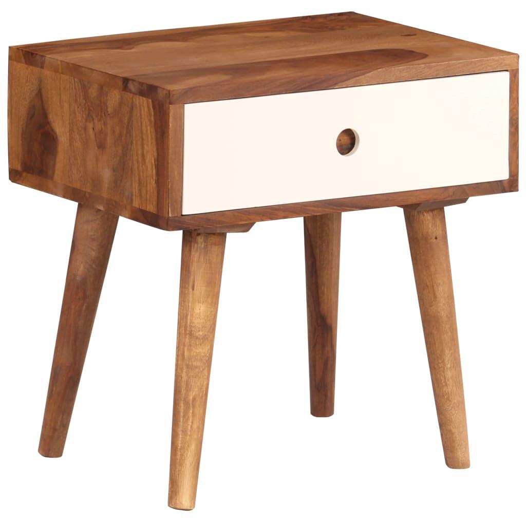vidaXL Nočný stolík 45x30x45 cm masívne sheeshamové drevo