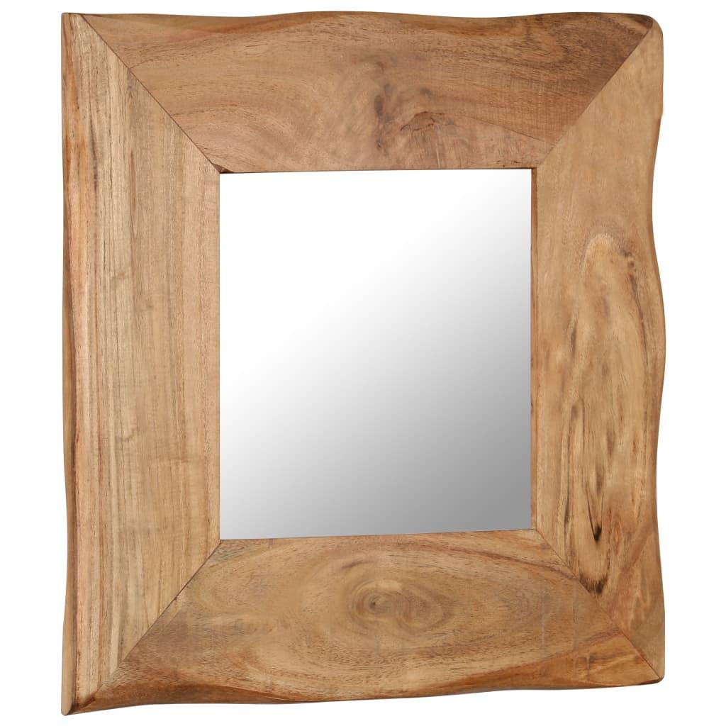 vidaXL Kozmetické zrkadlo z akáciového dreva 50x50 cm