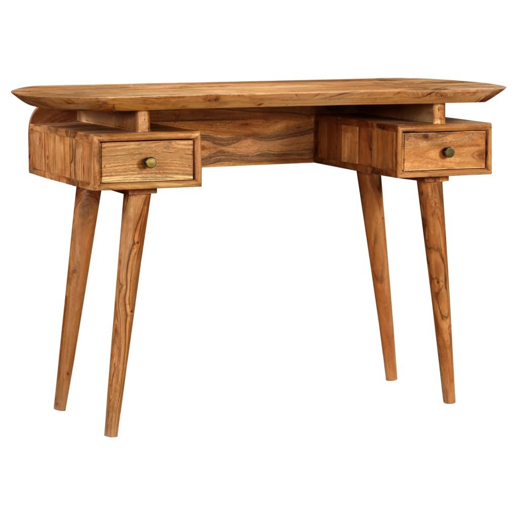 vidaXL Písací stôl, masívne akáciové drevo, 120x50x77 cm