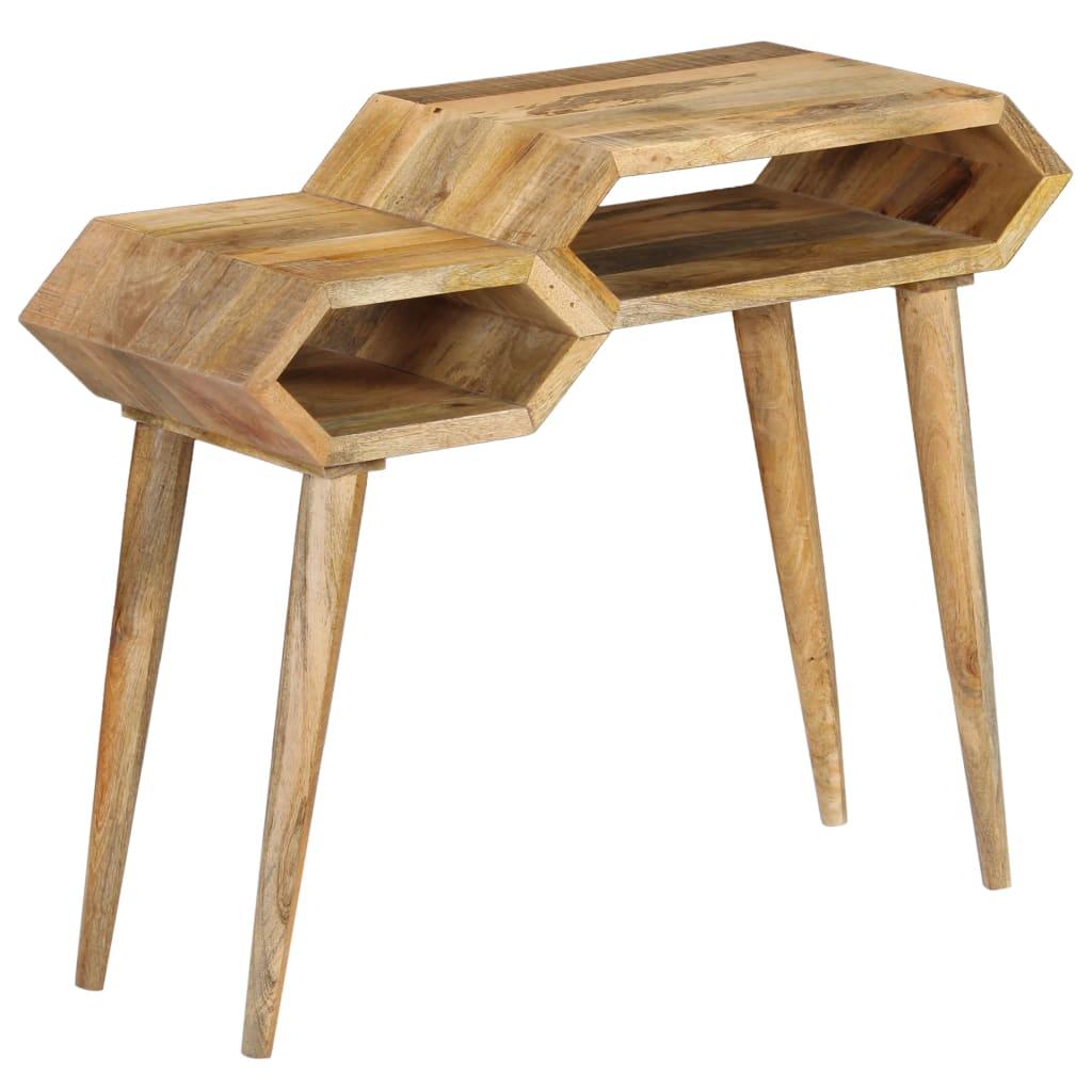 vidaXL Prístavný stolík z mangovníkového dreva 90x35x76 cm