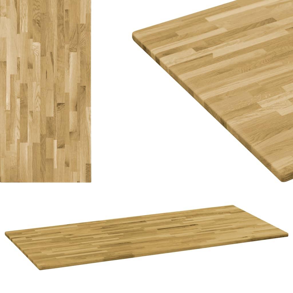 vidaXL Stolová doska dubové drevo obdĺžniková 23 mm 140x60 cm