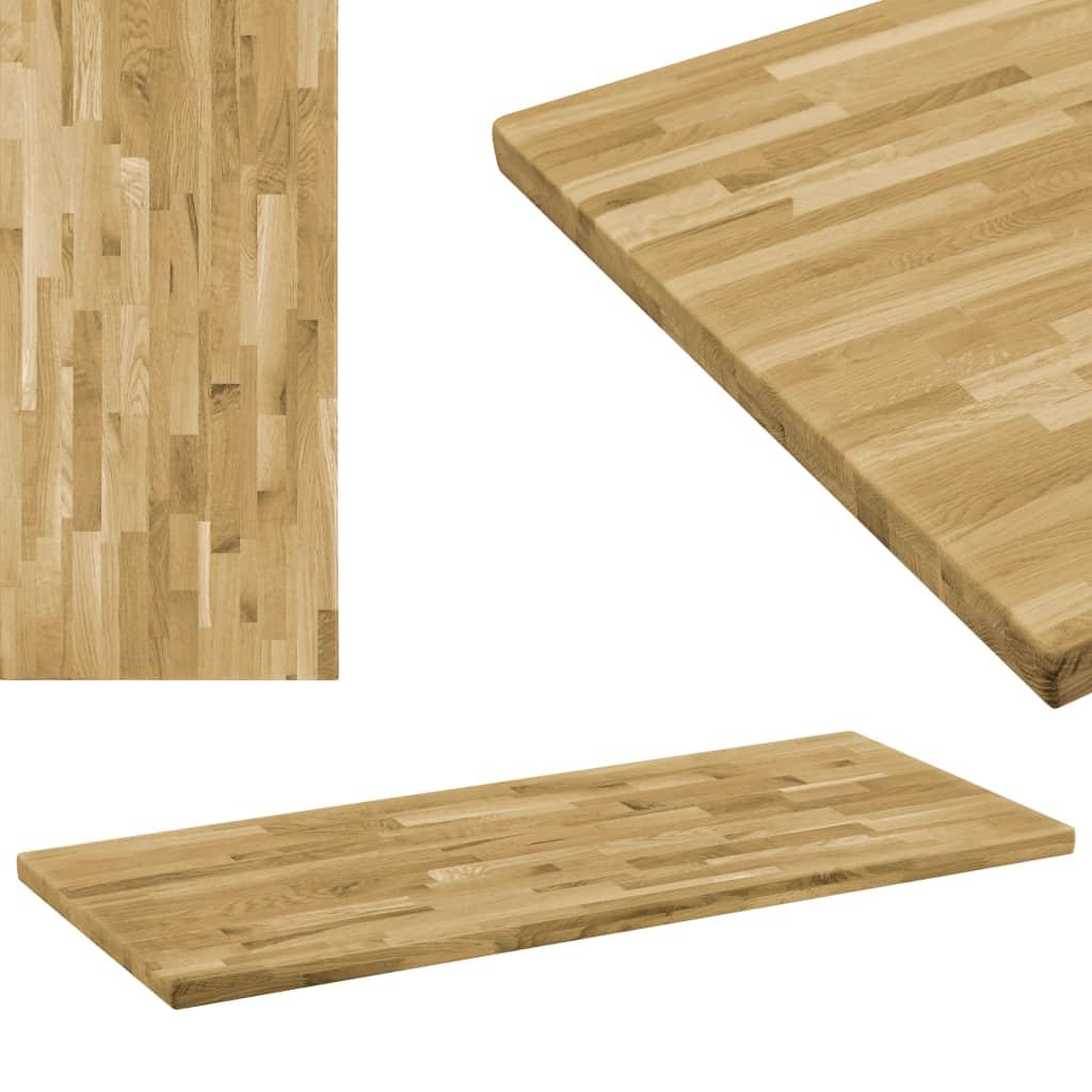 vidaXL Stolová doska dubové drevo obdĺžniková 44 mm 100x60 cm