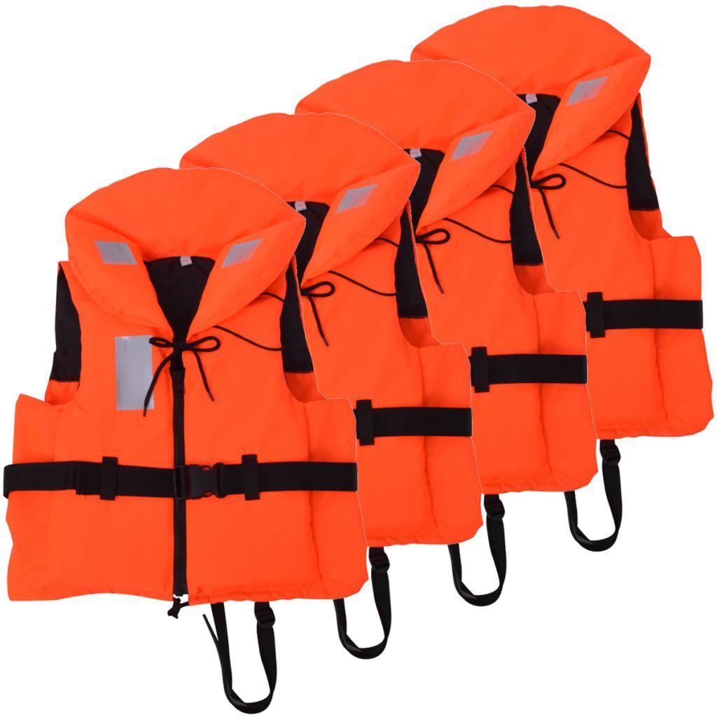 vidaXL Plávacia vesta 4 ks 100 N 60-70 kg
