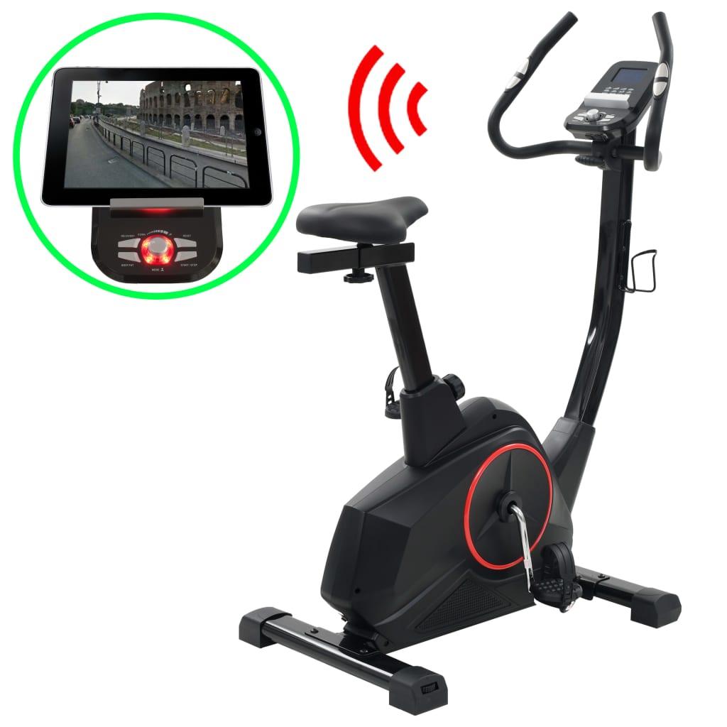 vidaXL Programovateľný rotopéd, rotačné závažie 10 kg, Bluetooth