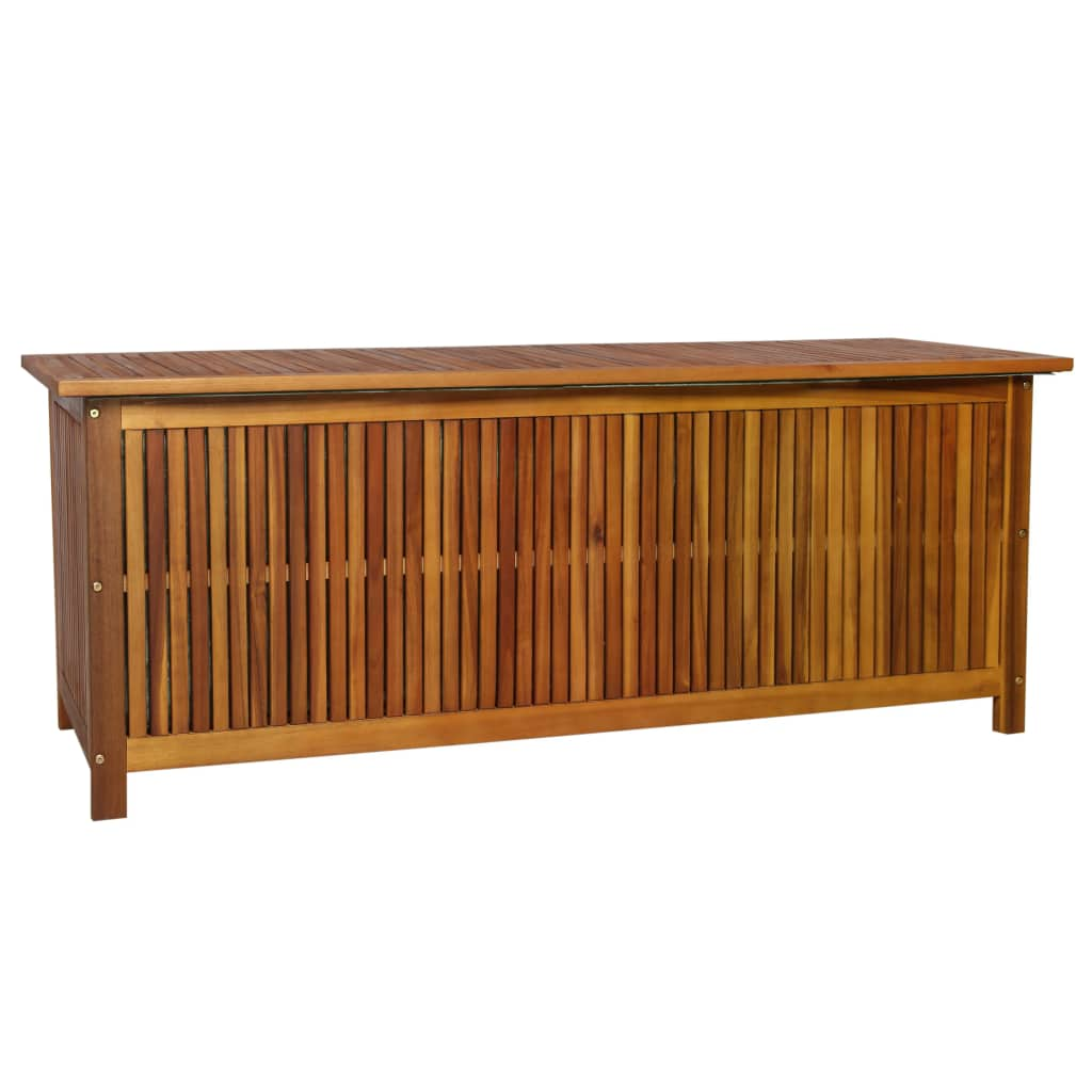 vidaXL Vonkajší úložný box masívne akáciové drevo 150x50x58 cm