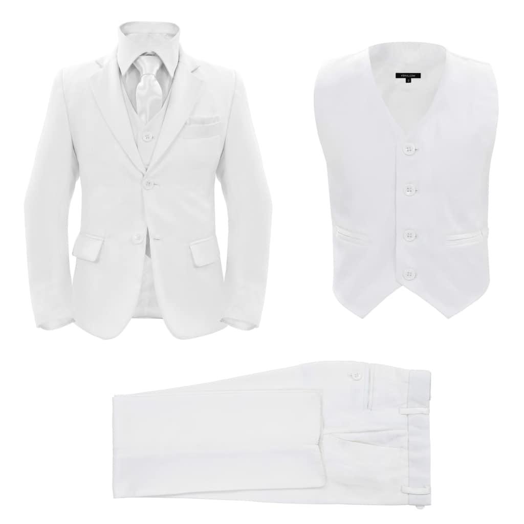 vidaXL Detský 3-dielny večerný oblek veľkosť 116/122 biely