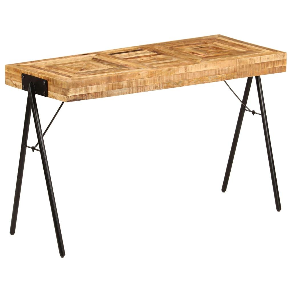 vidaXL Písací stôl 118x50x75 cm masívne mangovníkové drevo