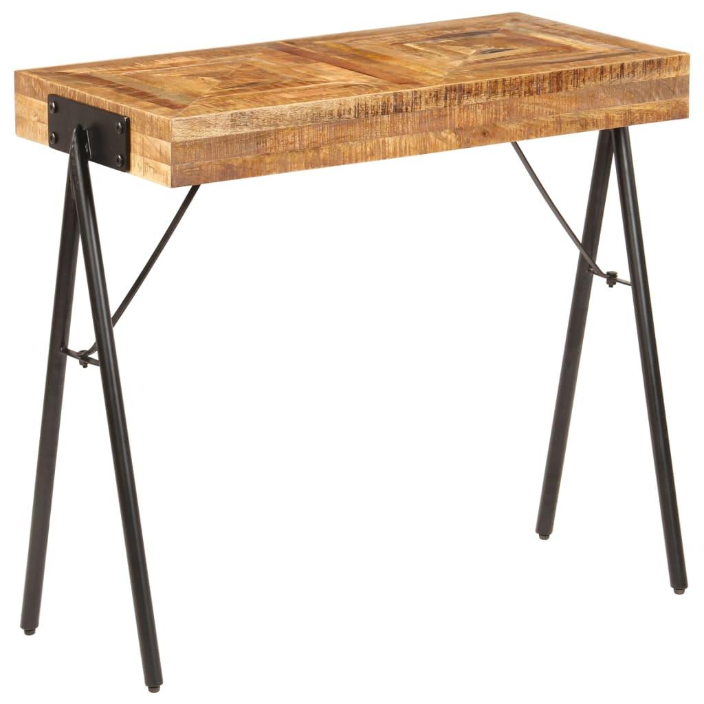 vidaXL Konzolový stolík z mangovníkového dreva 80x40x75 cm