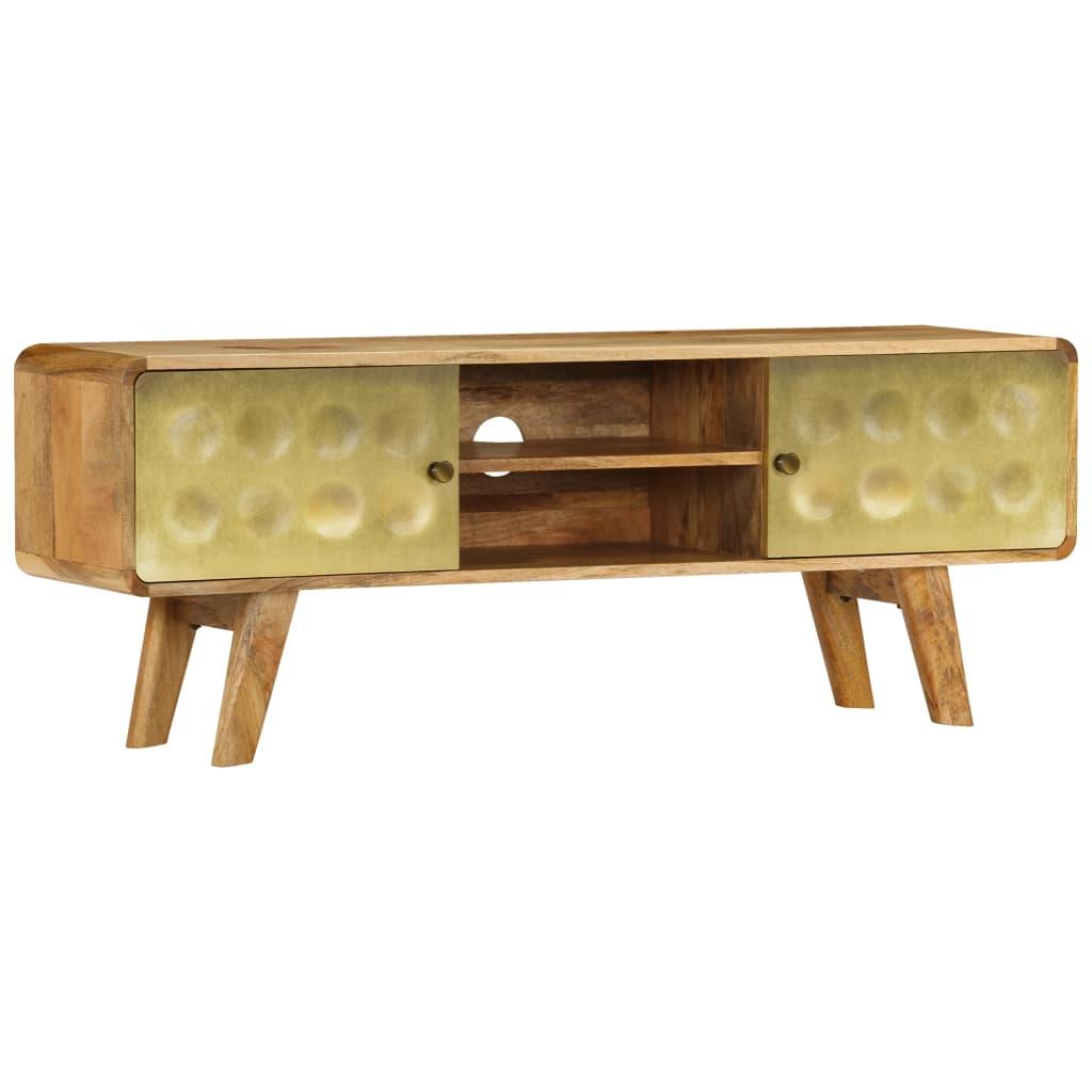 vidaXL TV stolík z masívneho mangovníkového dreva 120x30x45 cm