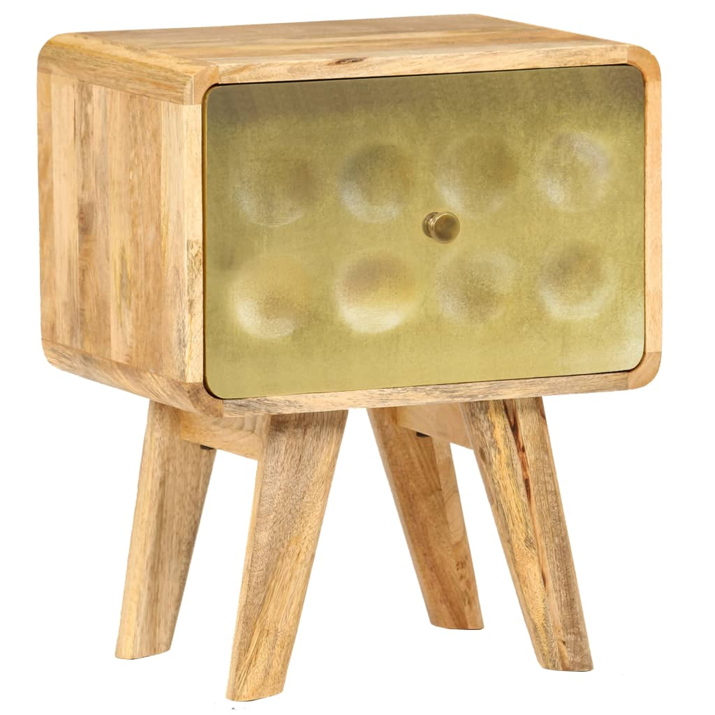 vidaXL Nočný stolík z mangovníkového dreva 40x30x49 cm