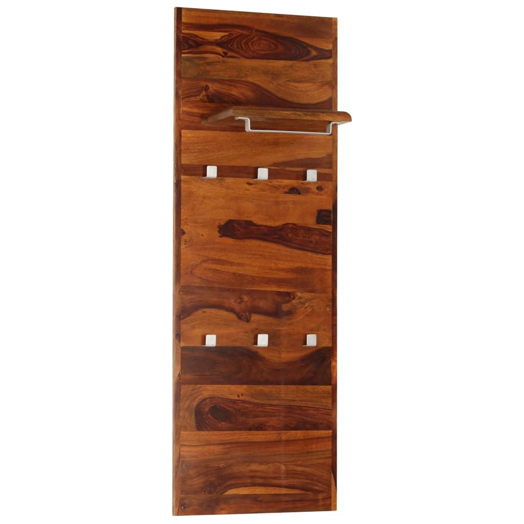 vidaXL Vešiak na kabáty zo sheeshamového dreva 118x40 cm