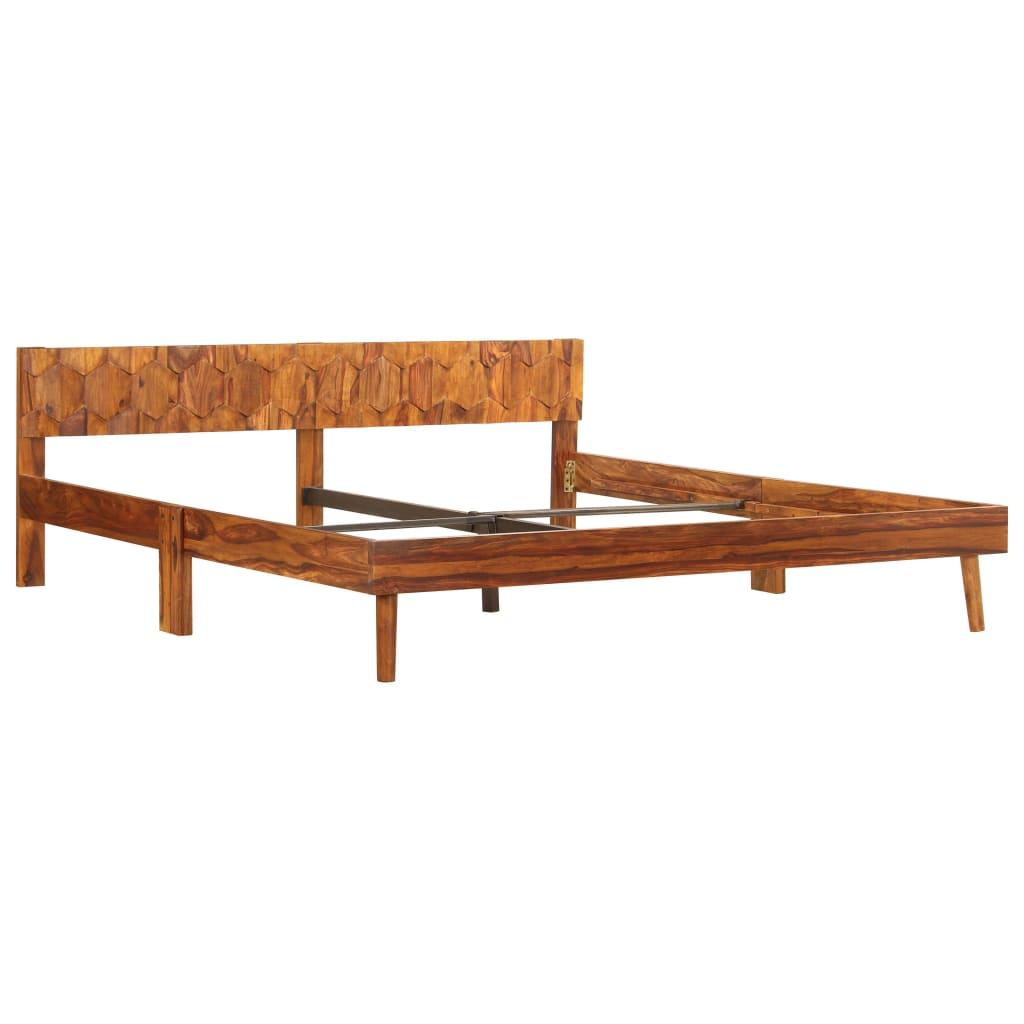 vidaXL Posteľný rám z masívneho sheeshamového dreva 180 cm