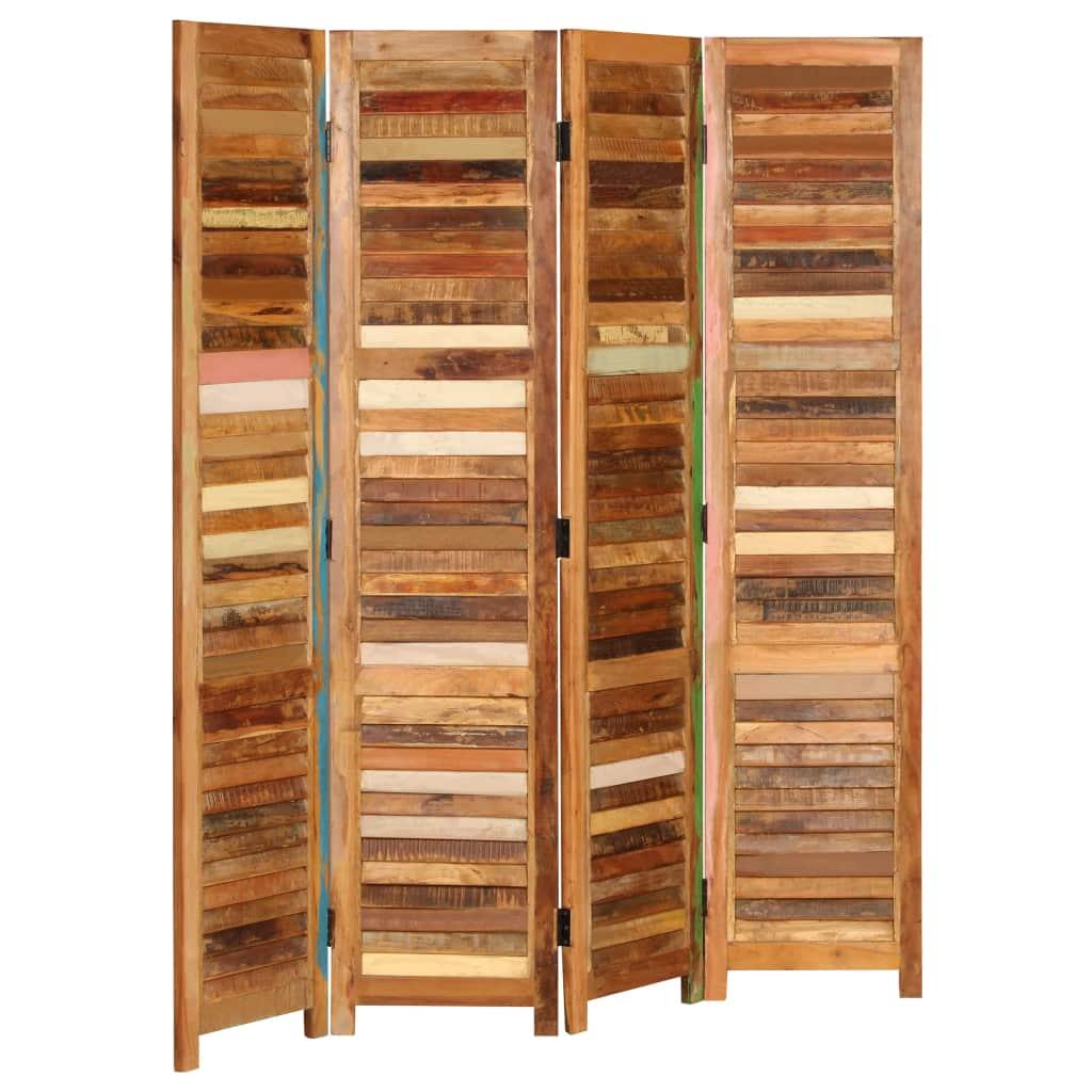 vidaXL Paraván do izby z recyklovaného dreva 170 cm