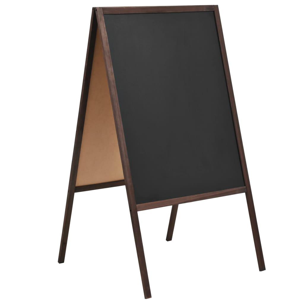 vidaXL Obojstranná voľne stojaca tabuľa z cédrového dreva 60x80 cm