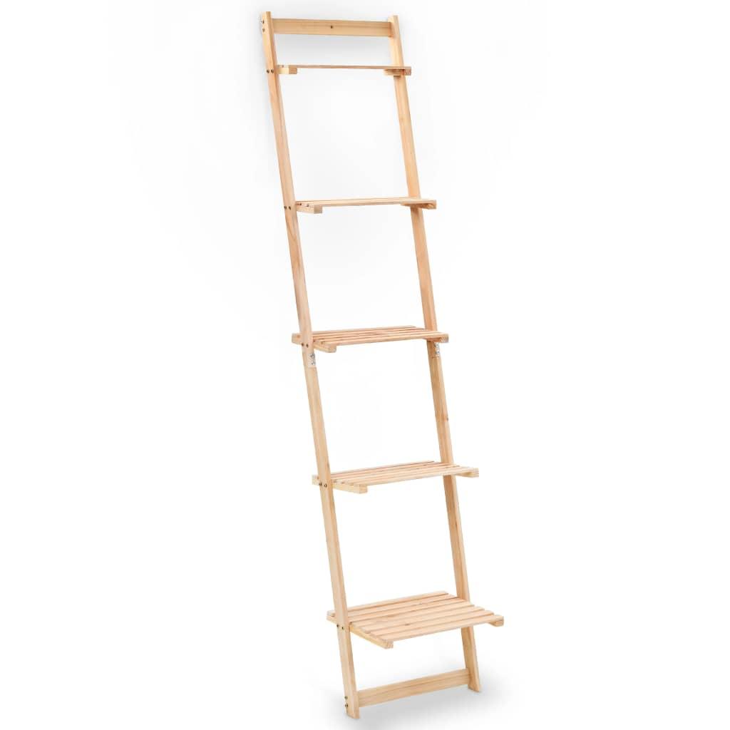 vidaXL Rebríková nástenná polička cédrové drevo 41,5x30x176 cm