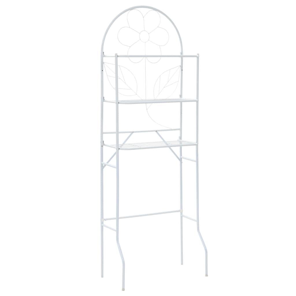 vidaXL Regál nad WC, biely 60x33x174 cm