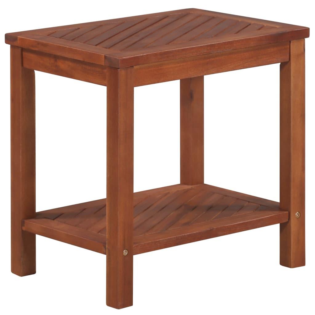 vidaXL Bočný stolík 45x33x45 cm masívne akáciové drevo