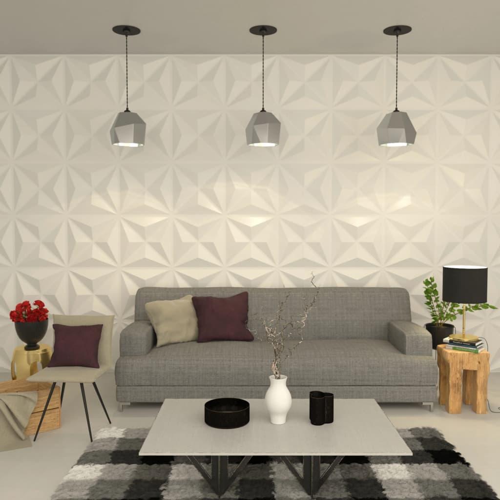 vidaXL Nástenný 3D panel 24 ks 0,5x0,5 m 6m²