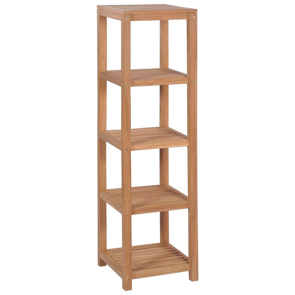 vidaXL Kúpeľňový regál z teakového dreva so 4 poličkami 42x42x165 cm