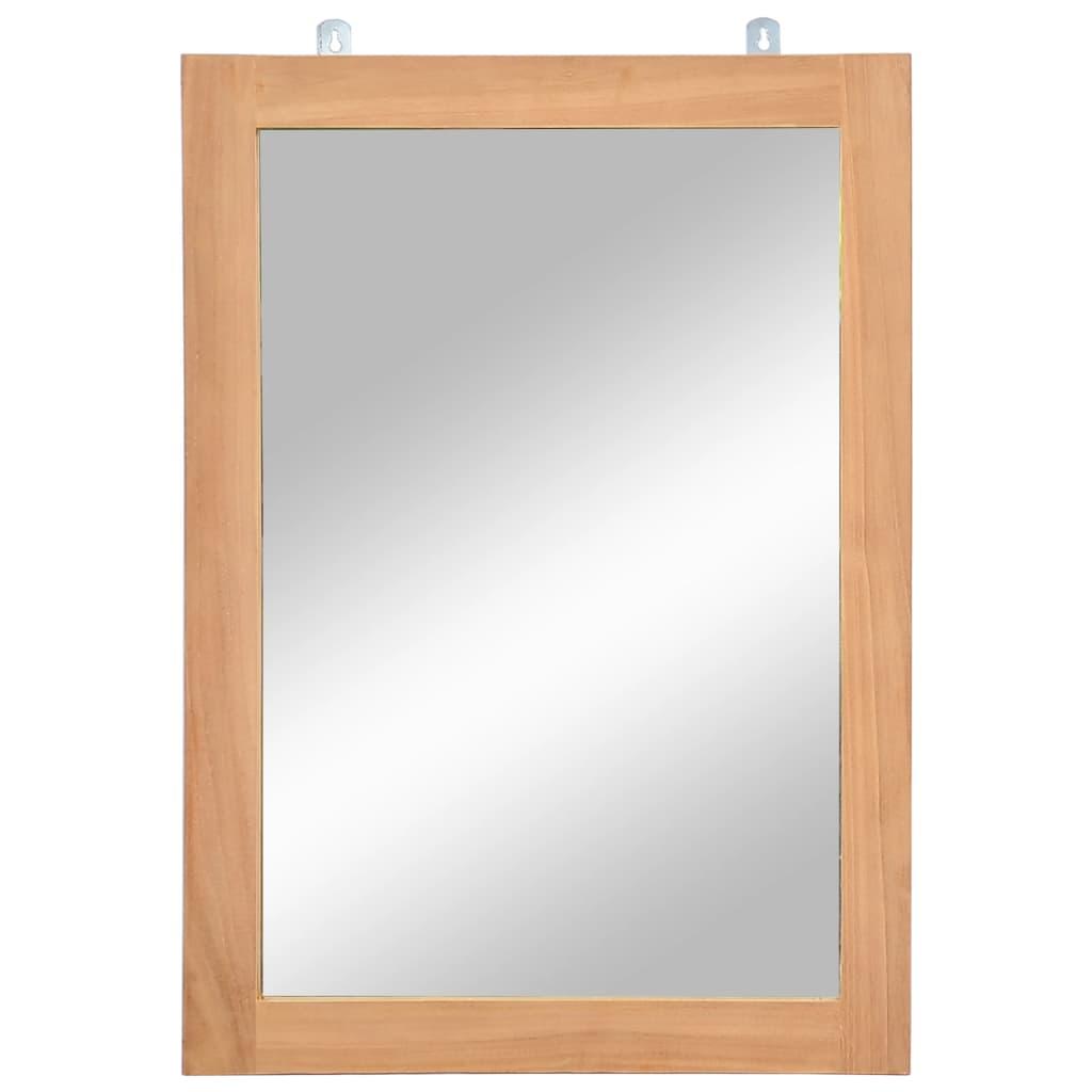 vidaXL Nástenné zrkadlo z masívneho teakového dreva 50x70 cm