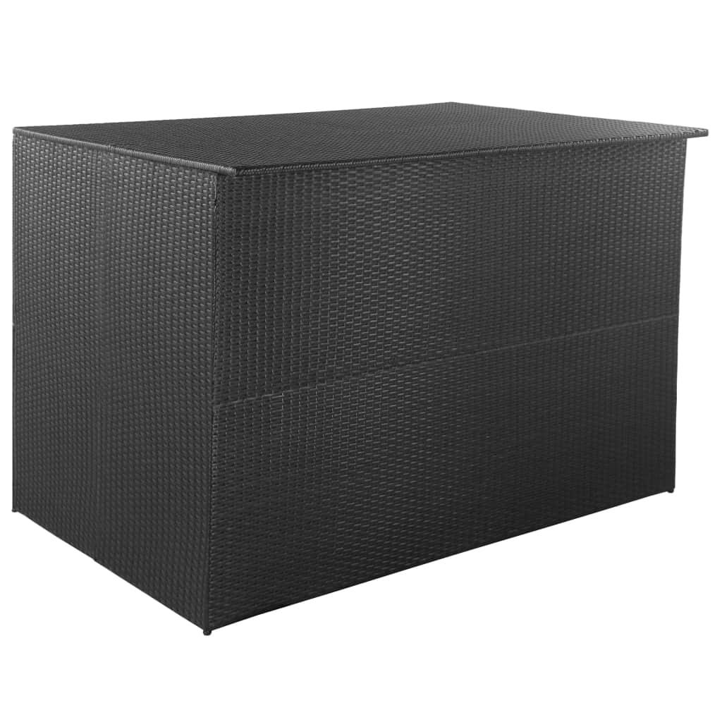 vidaXL Vonkajší úložný box polyratanový 150x100x100 cm čierny