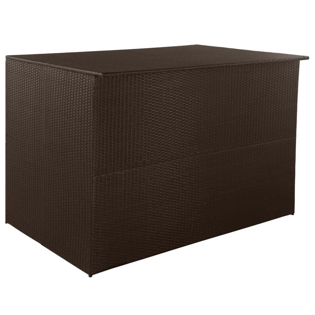 vidaXL Vonkajší úložný box polyratanový 150x100x100 cm hnedý