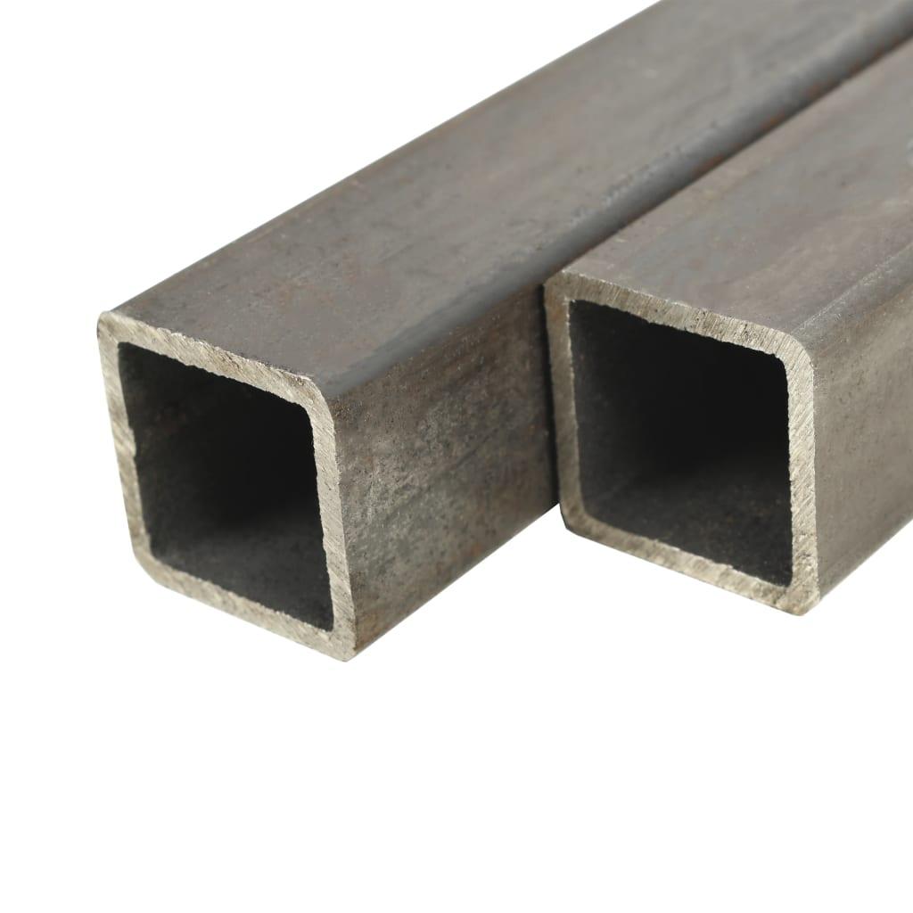 vidaXL Stavebné oceľové rúry 4 ks 2m 40x40x2 mm štvorcové joklové