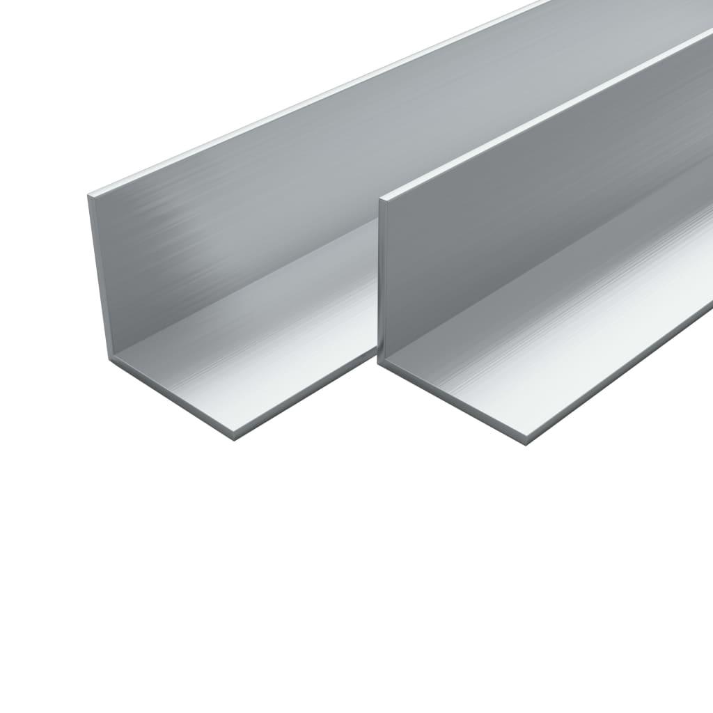 vidaXL Hliníkové rohové profily 4 ks L-profil 1m 20x20x2mm