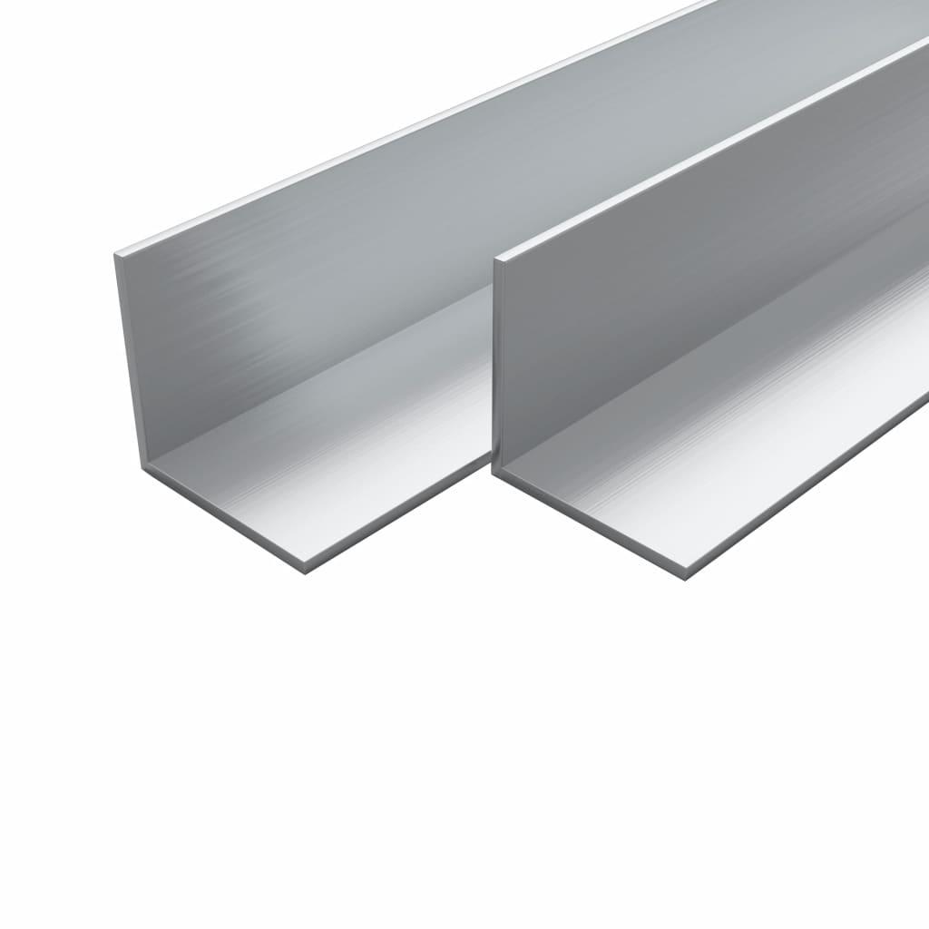 vidaXL Hliníkové rohové profily 4 ks L-profil 2m 20x20x2mm